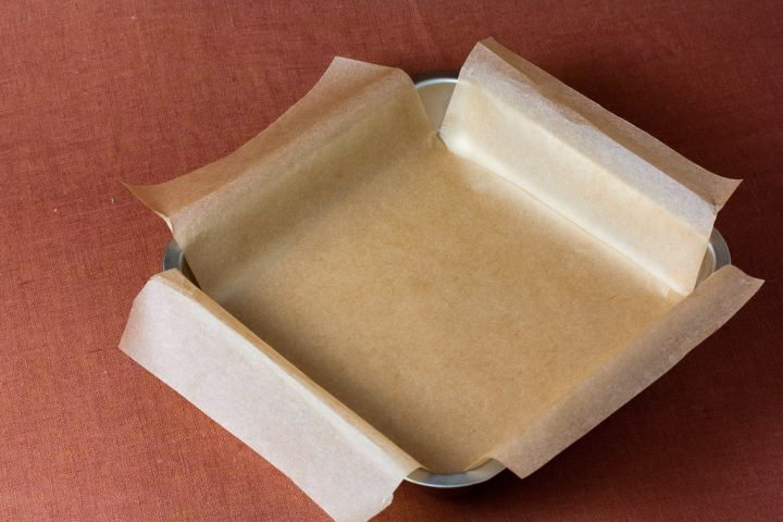 Parchment paper used in lining pan