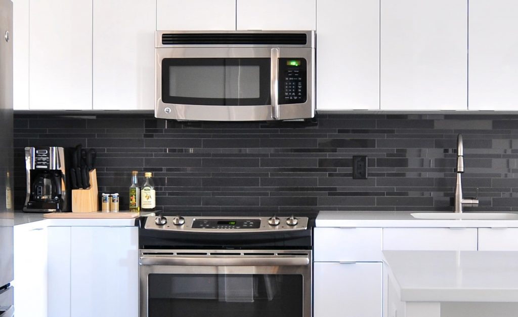 Over The Range Microwave Convection Oven In Kitchen