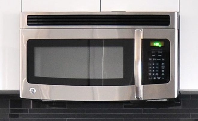 Microwave oven in range