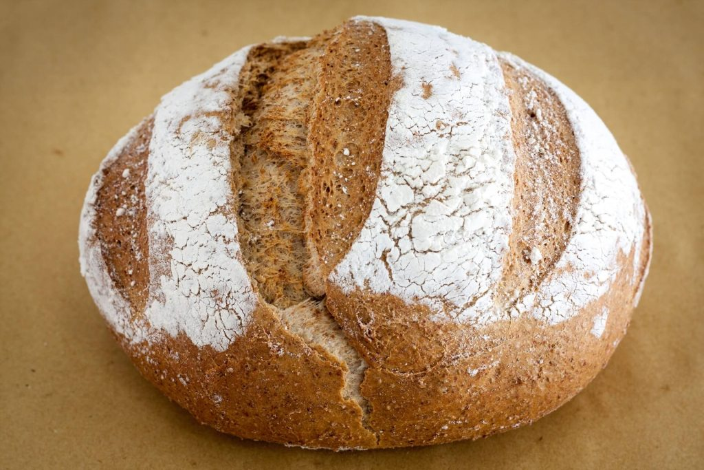 a round bread with cuts